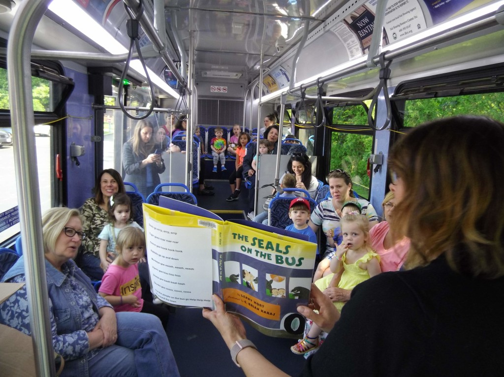 Our friends from Laketran visited this week for a special story time on their Dial-a-Ride buses.