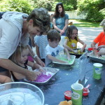 Children make their own moon sand on another Marvelous Monday at Mentor Public Library.