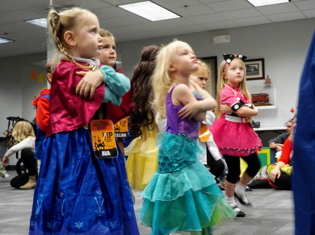 Striking a pose at Mentor Public Library's Halloween Preschool Dance Party