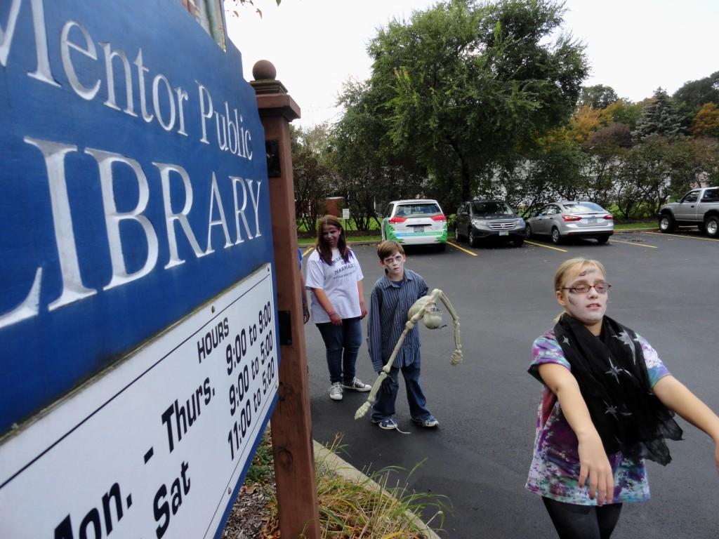 Mentor Public Library is throwing a zombie-themed Halloween party for teens on Wednesday, Oct. 30, at its Main Branch.