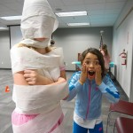 Aven made a monster, transforming Evelyn into a mummy.