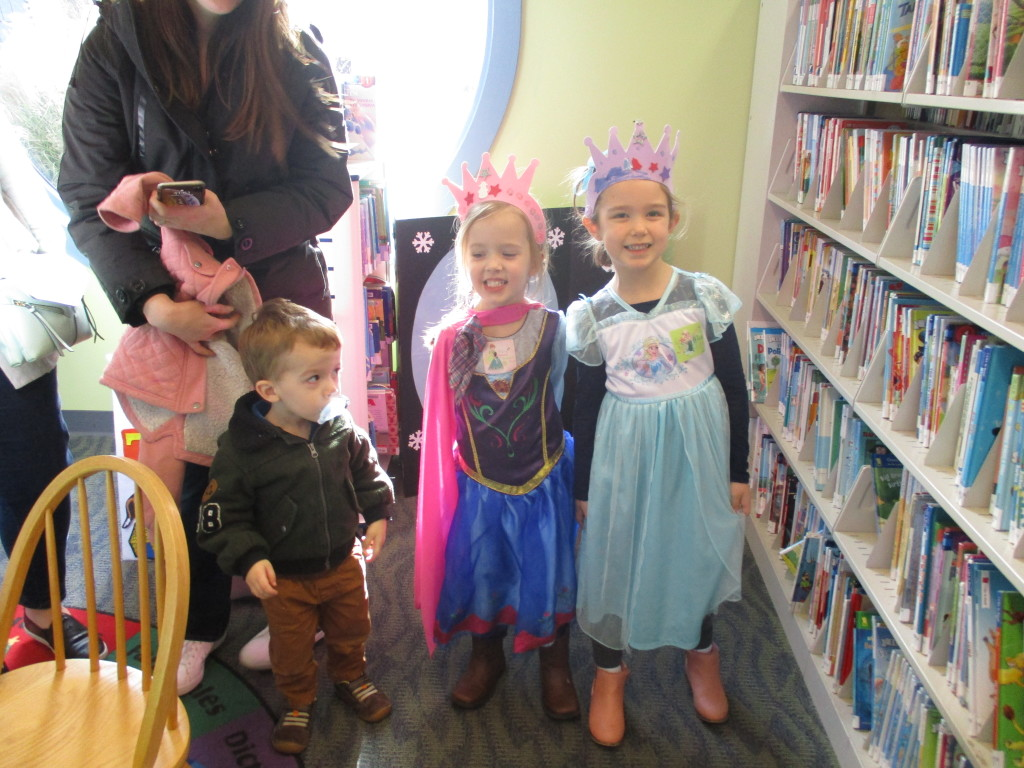 Our princess party at the Lake Branch was packed with little Annas and Elsas.