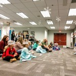 Elsa leads a royal story time at Mentor Public Library.