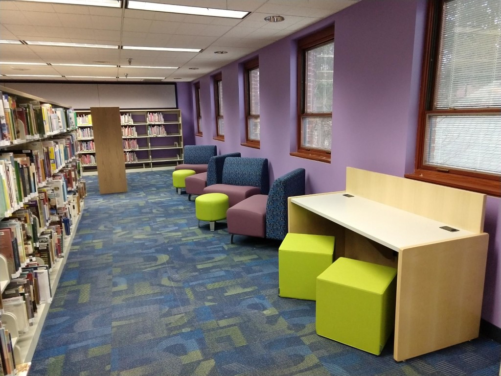 Our renovated Children's Area has more room for reading, reflecting, and relaxing.