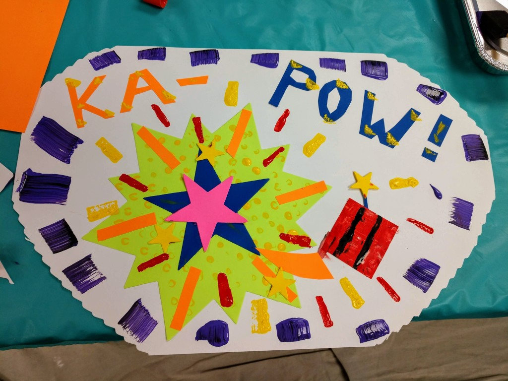 Ka-Pow! Kids make pop art with our Masterpieces at Main Art Club.