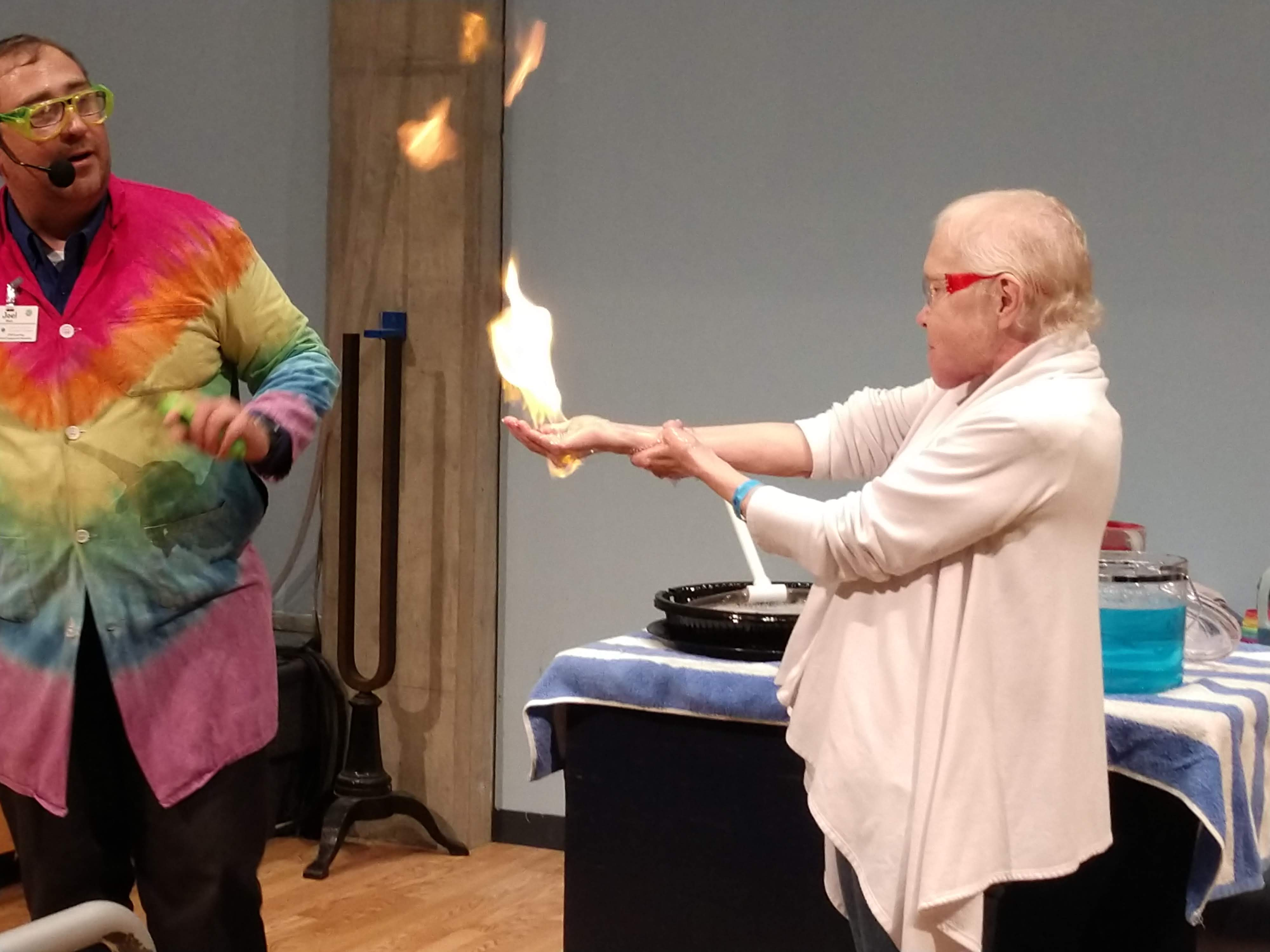 The Great Lakes Science Center is sharing science experiments 10:30 am every weekday on their YouTube channel. (I don't care how bored you are. Don't light your hand on fire!)