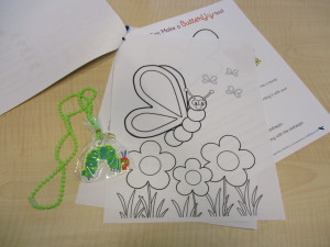 Each story time picnic comes with a fun activity like coloring pages or a craft.