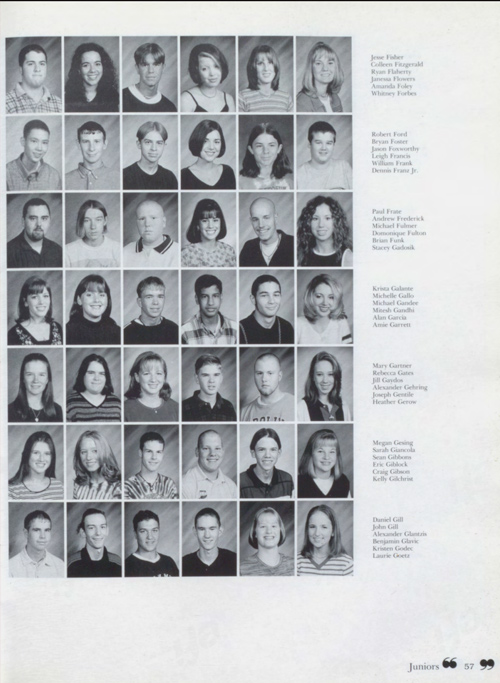 Image of a yearbook page
