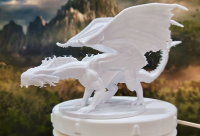Image of a 3D printed dragon