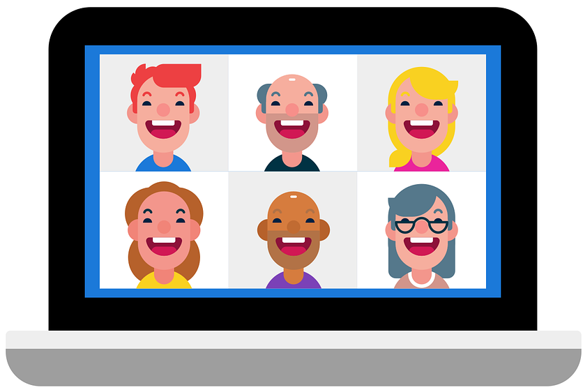 Image of an online meeting