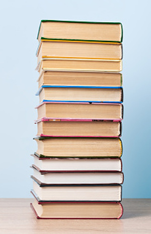 Image of books stacked