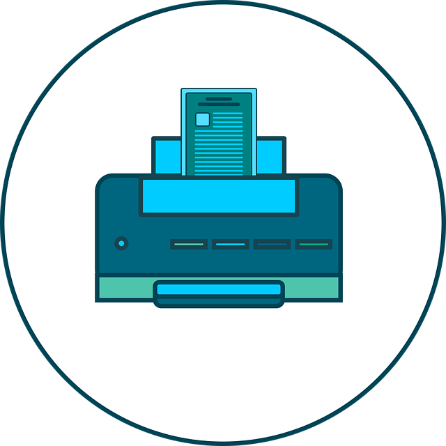 Graphic of a printer