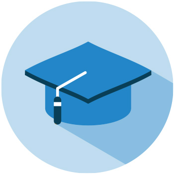 Icon of a graduate hat