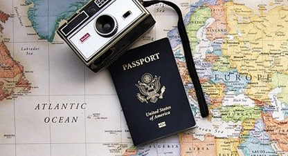 Image of Passports on a map