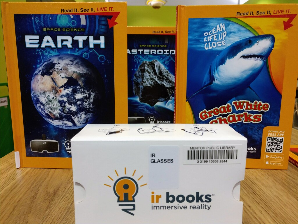 Get INTO the book with new Immersive Reality books at Mentor Public Library.