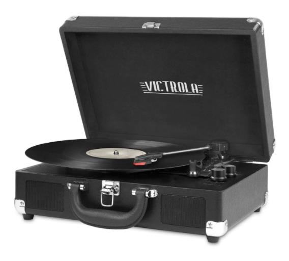 Victrola Turntable playing a record